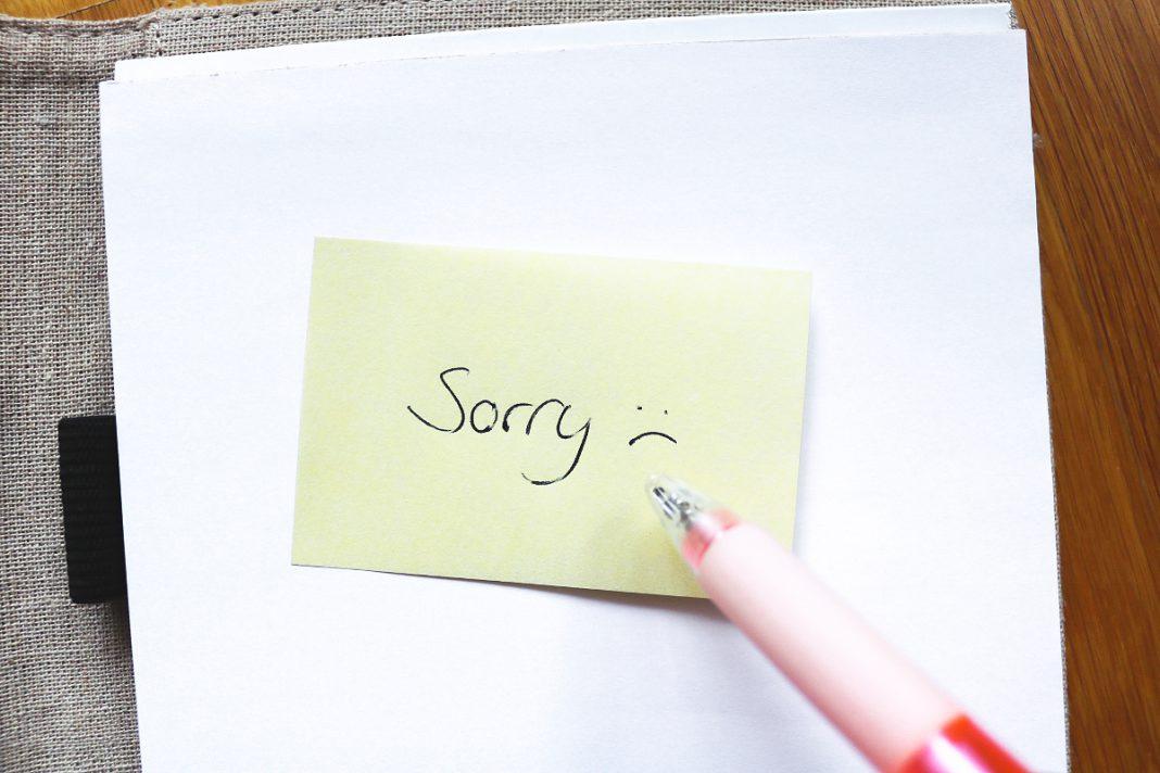 Bitte um Entschuldigung gerät in Vergessenheit
