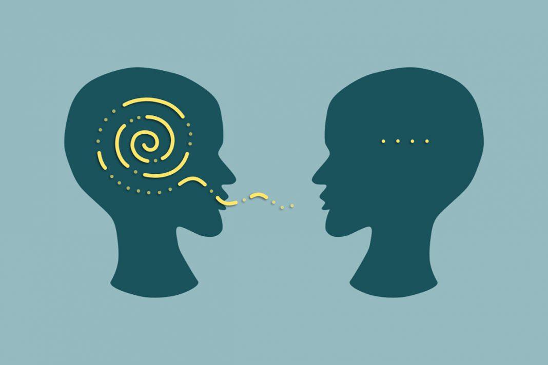 Wortkarge Halbsätze im Gespräch